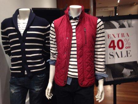 Men's display at Banana Republic's Midtown Store