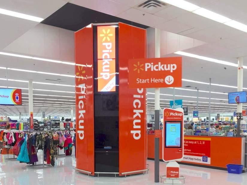 Walmart BOPIS machine
