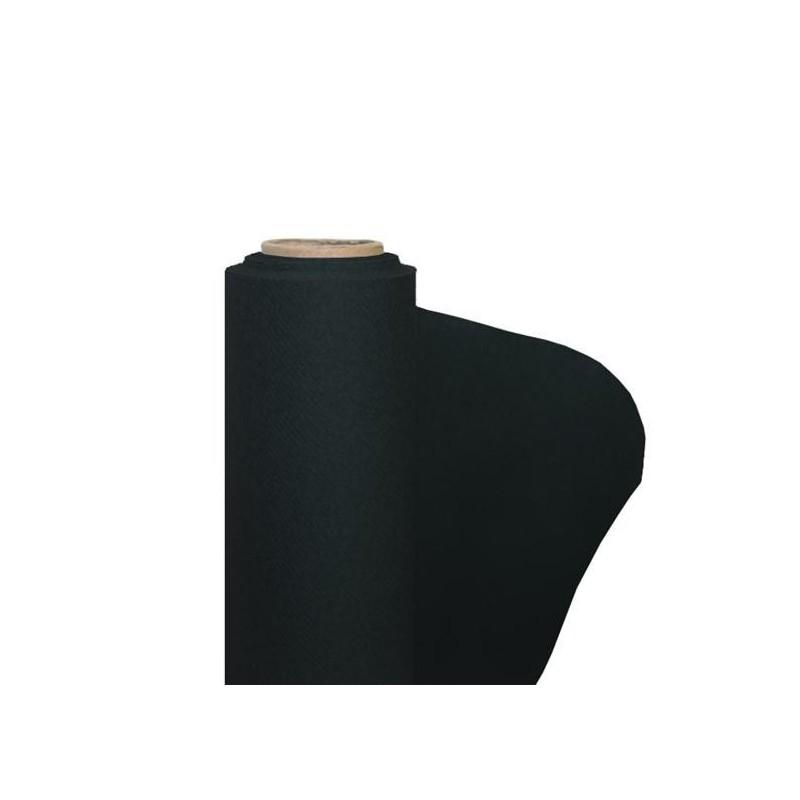 nappe noire en papier intisse largeur 1 20 m le rouleau de 25 m