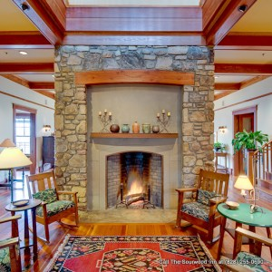 Asheville Bed and Breakfast with fireplace