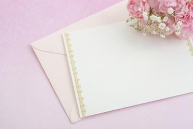 結婚式の招待状の封筒