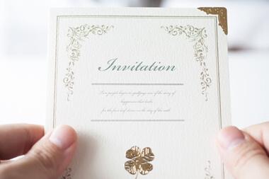 結婚式の招待状の返信ハガキや封筒