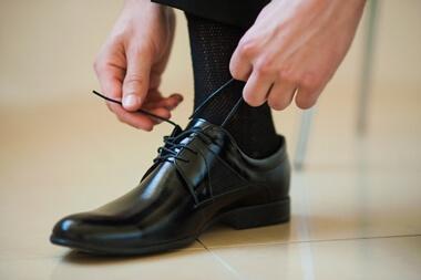 結婚式の男性の靴下