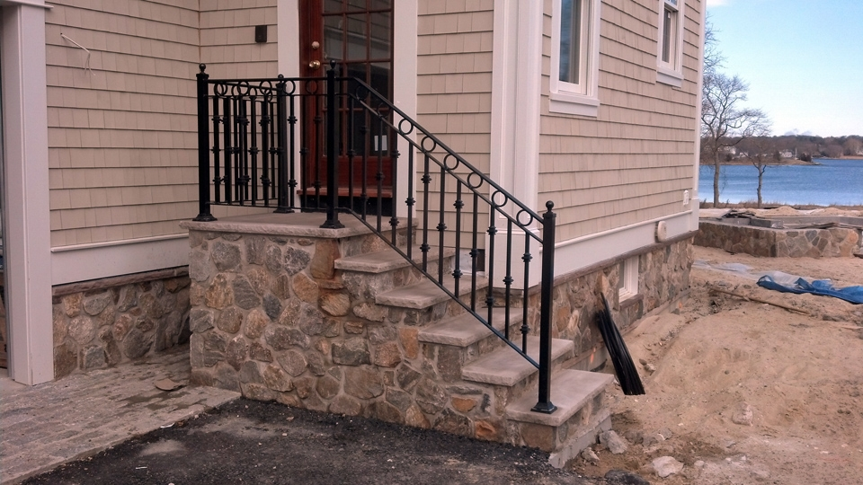 Wrought Iron Railings Ma Ri Custom Iron Hand Rails Ornamental | Wrought Iron Outdoor Handrails | Curved | Vintage Salvaged Outdoor Iron | Aluminum | Modern | Residential