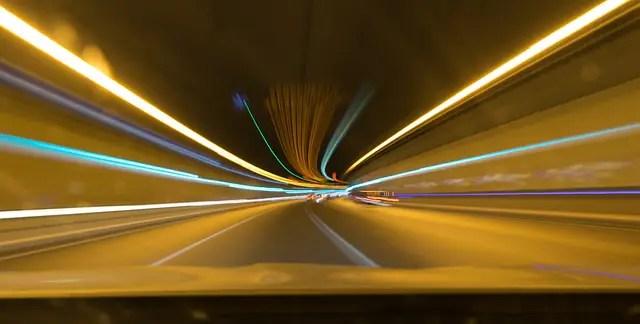 lights, stelae, tunnel