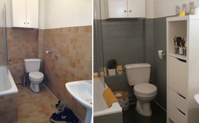 avant apres comment une salle de bain