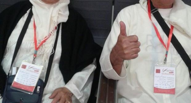 """كوبل دار العجزة """"كلثومة والركراكي"""" يؤديان مناسك العمرة"""