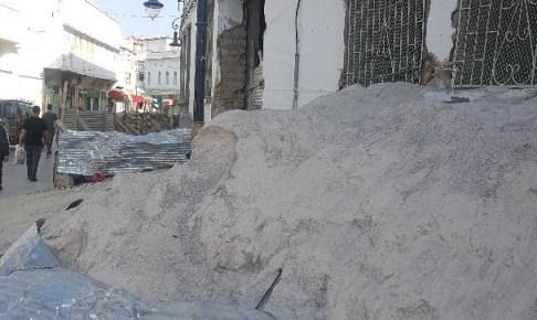 مظاهر البشاعة تأثث وجه شارع محمد الخامس بوزان
