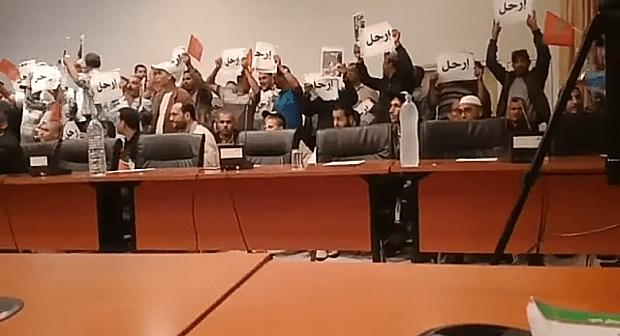 """اولاد تايمة ترفع شعار ارحل للرئيس في دورة أكتوبر """" فيديو"""""""