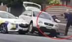 فيديو: لحظة القاء القبض على منفذ مجزرة المسجدين بنيوزيلندا من طرف رجل أمن شجاع