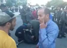 بالفيديو: الشتيف والرفيس لتفريق فراشة معتصمين