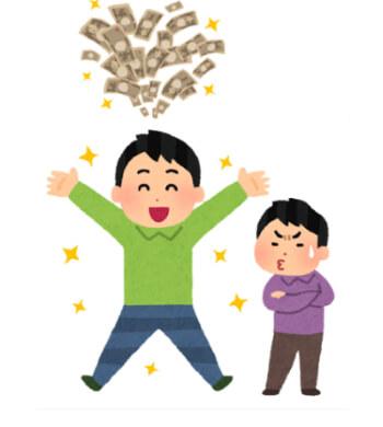 お金、成功、嫉妬