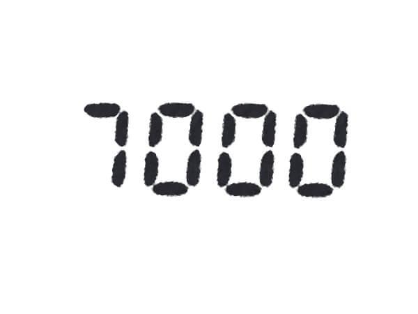 7000ポイント