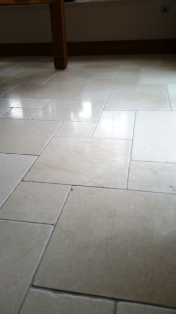 Limestone floor after cleaning in Hornchurch