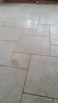 Repairing Cracks in Limestone Tiles   Stone Cleaning and Polishing     Limestone floor before cleaning in Hornchurch