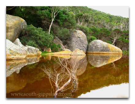 large granite boulders on Tidal River