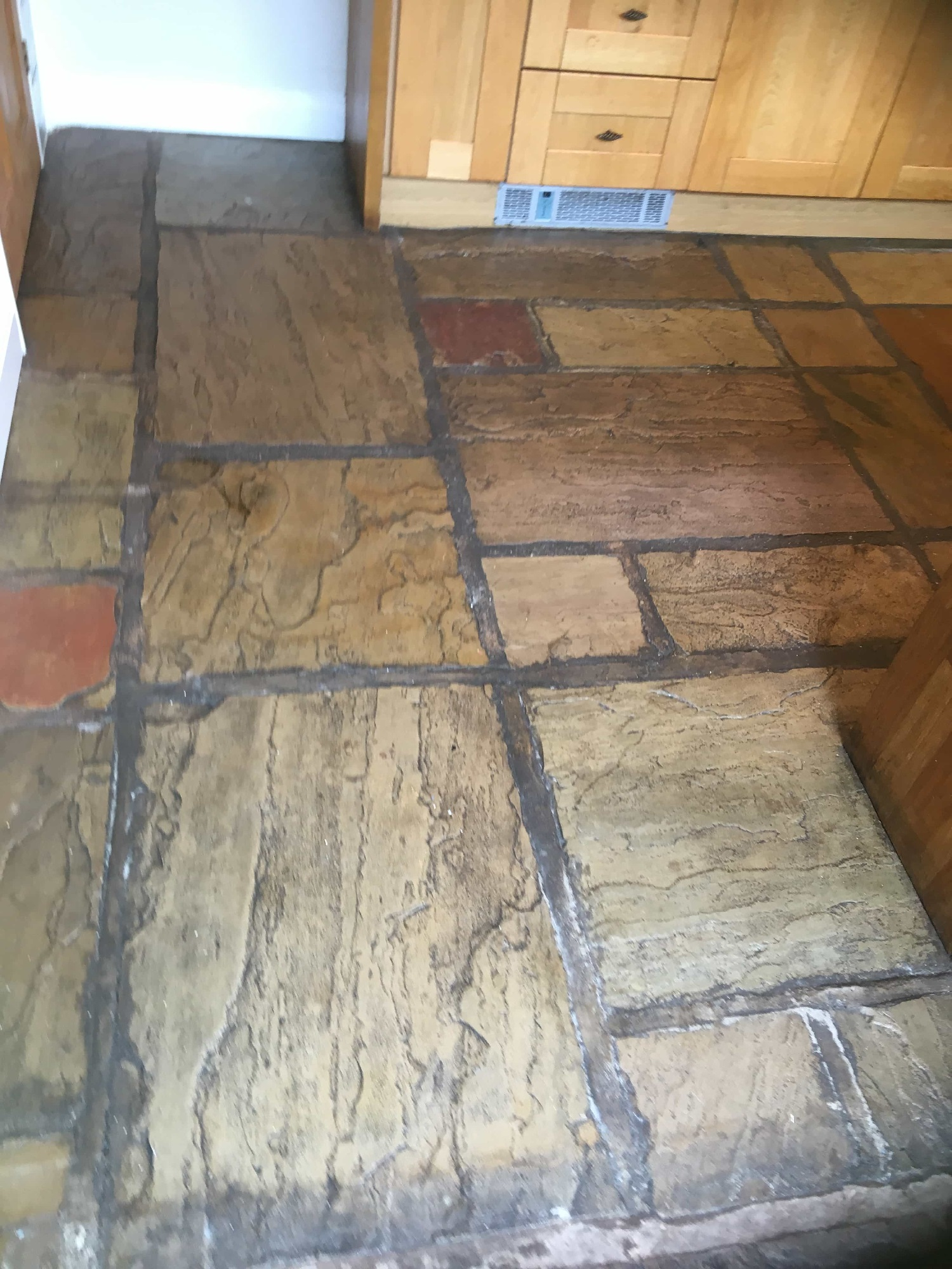 Sandstone Floor Before Renovation Burscough