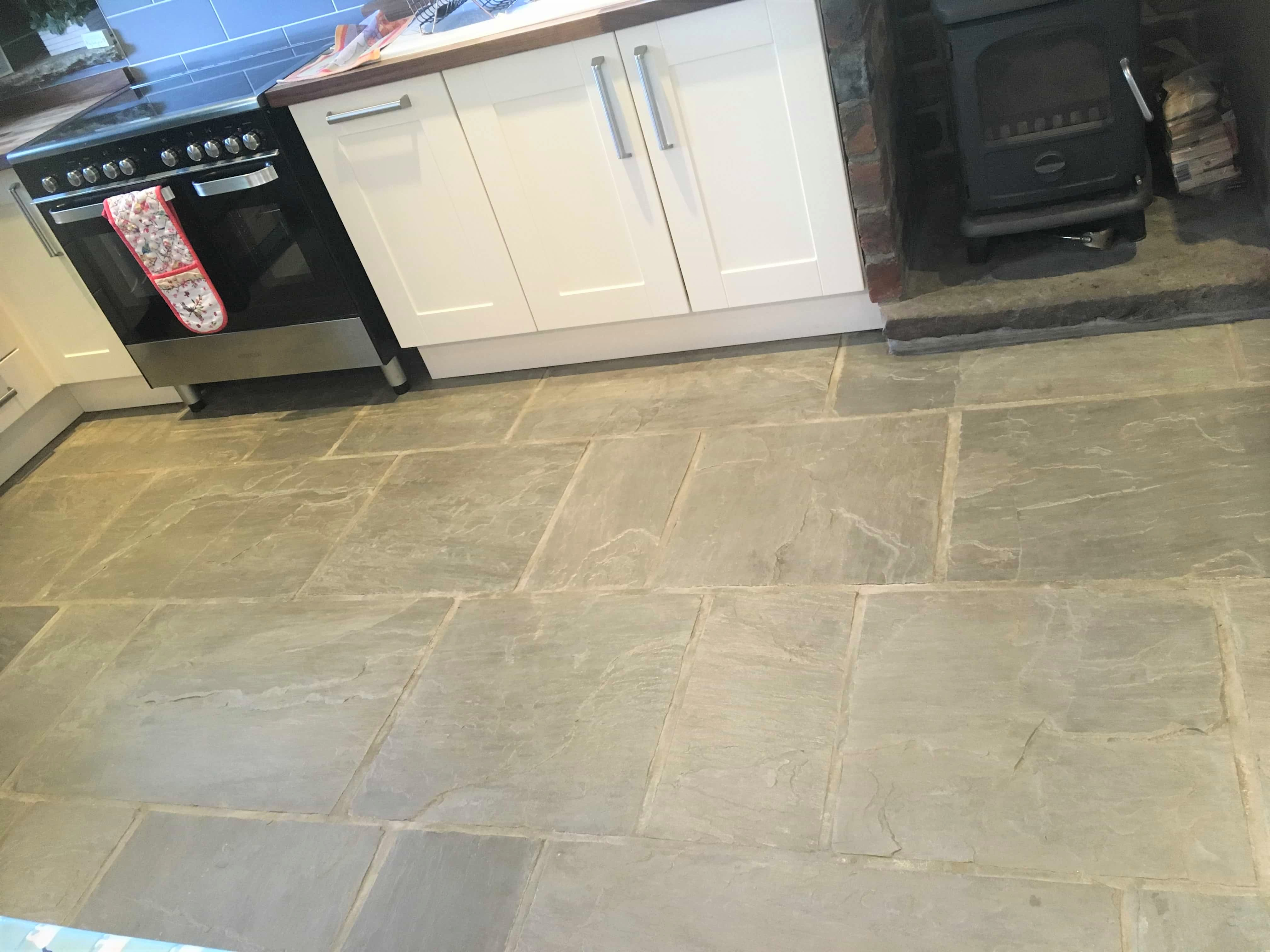 Farmhouse Sandstone Floor After Renovation Colne