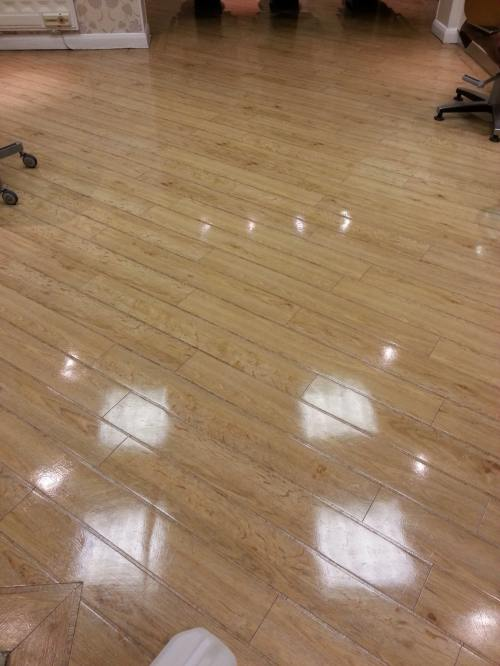 Renovating An Amtico Floor At A Wimbledon Hair Salon Vinyl Floor