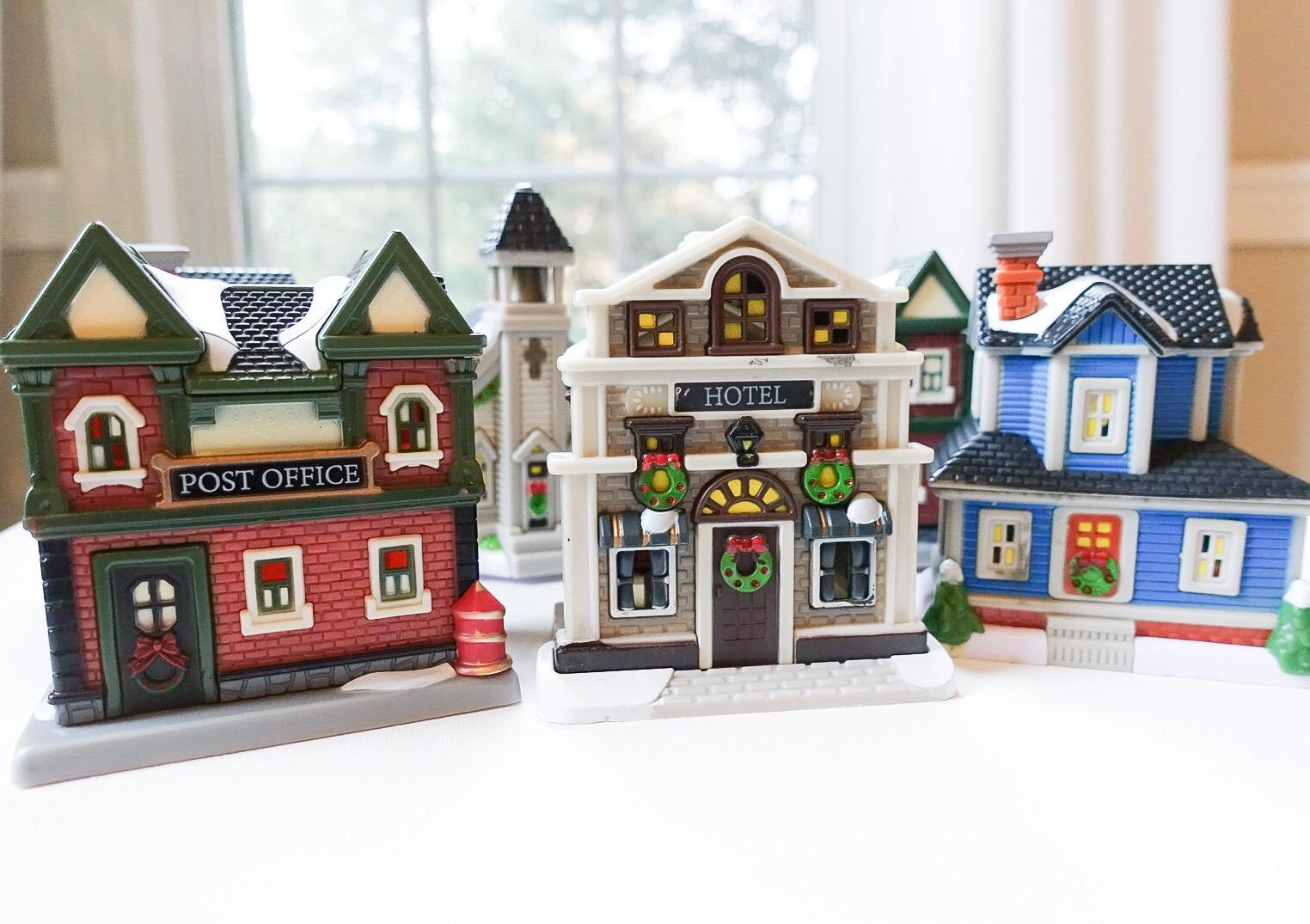 Dollar Store Christmas Village Houses South Lumina Style