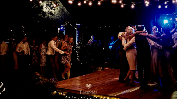 Wedding reception dance floor party