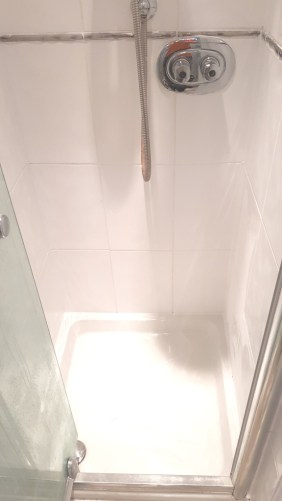 Ceramic Shower Tile and Grout After Revamp Sheffield