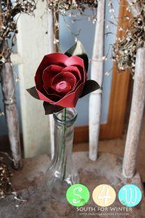 Stemmed paper flower