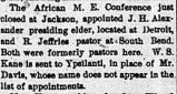 September 1, 1892. Ypsilantian.