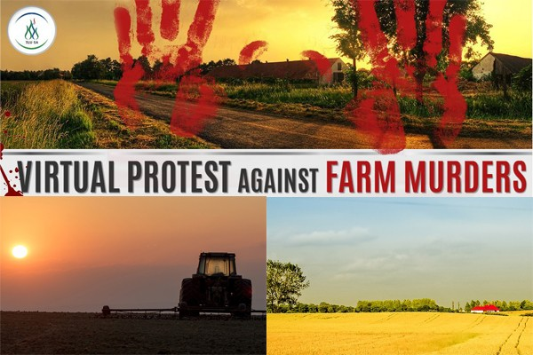 Virtual protest against farm attacks and farm murders in South Africa