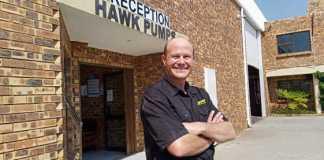 Sales Manager at Hawk Pumps, it falls to Ronald De Beer
