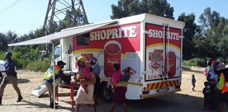 Shoprite Mobile Soup kitchen feeding the community of Booysens with a nutritious meal
