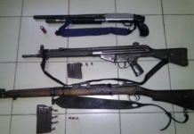 4 Suspects arrested with illegal firearms, Weenen. Photo: SAPS