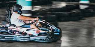 Eben van Breda enjoying Eastgate's IndyKart
