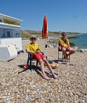 The lifeguards at Highcliffe © Southampton Old Lady