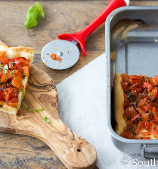 Pizza met tomaat van De Zilveren Lepel