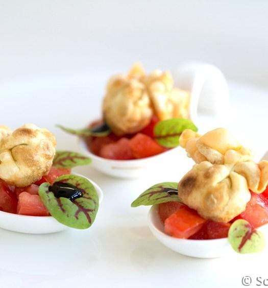 Gefrituurde perline met tomatensalsa