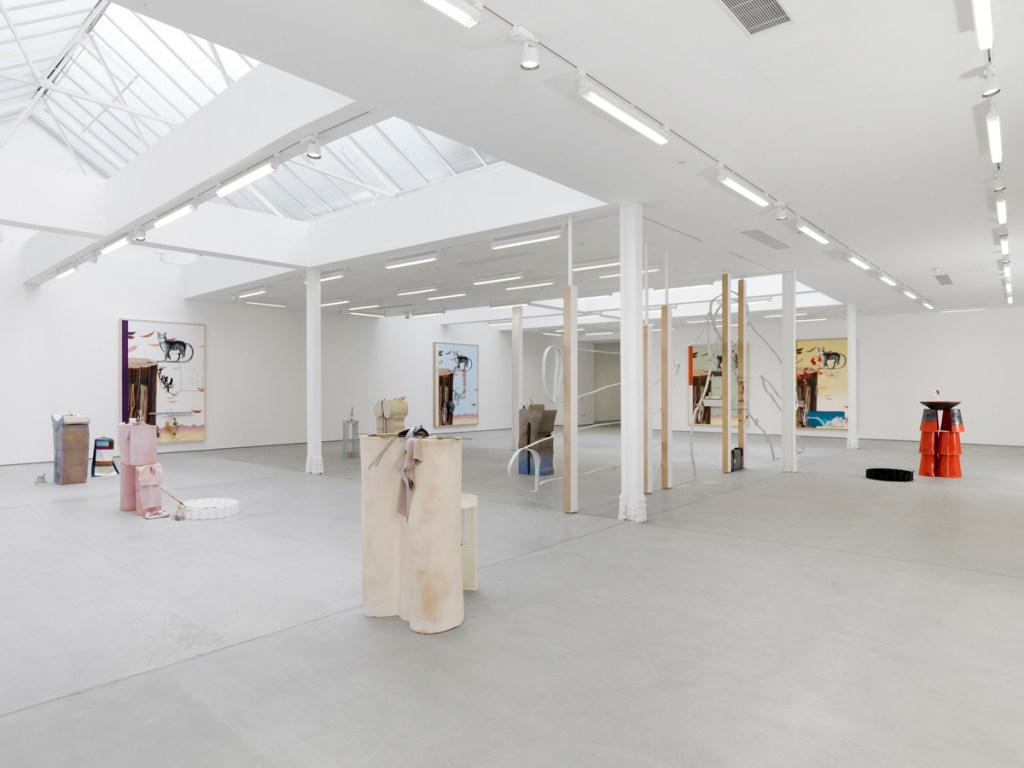 Helen Marten, Oreo St. James, 2014, installation view, Sadie Coles