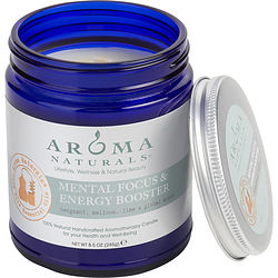 ONE 3 X 3 inch JAR AROMATHERAPY CANDLE.  COMBINES THE ESSENTIAL OILS OF BERGAMOT