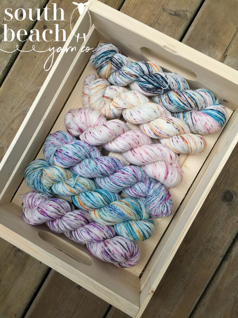6 Skeins of Speckled Yarn