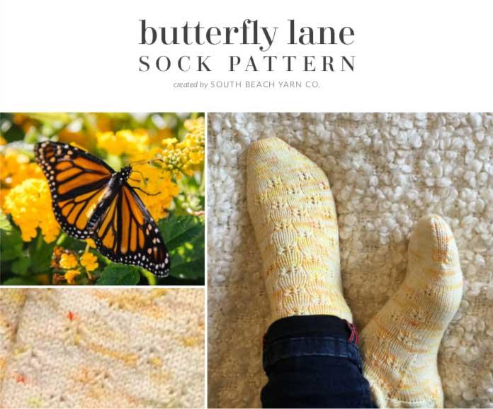 Butterfly Lane Sock Pattern