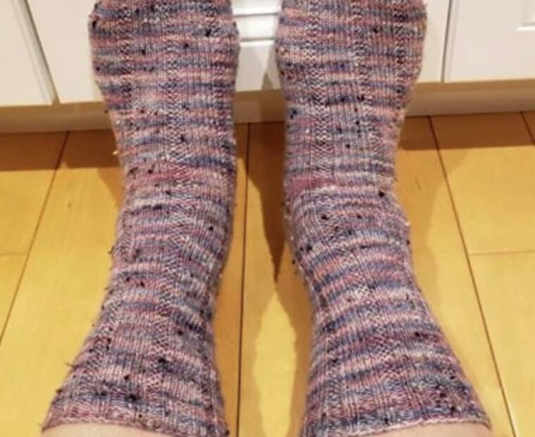 Hand knit socks with donegal yarn