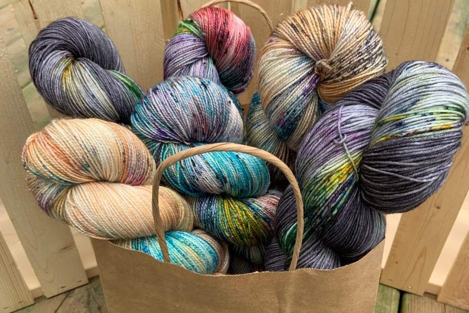 A bag of South Beach Yarn