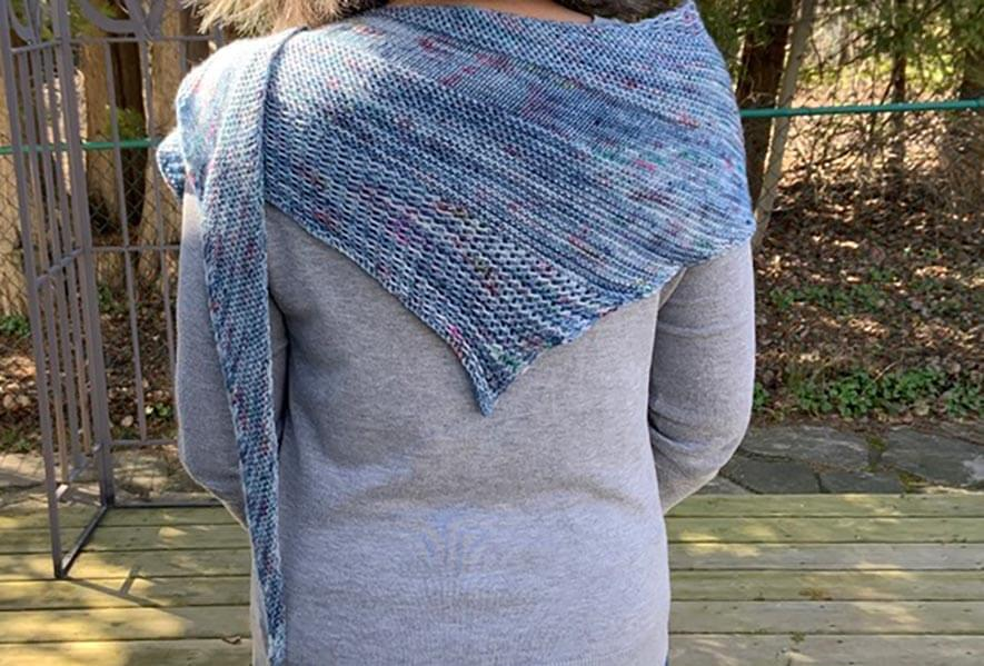 Easy Goes It Shawl Back