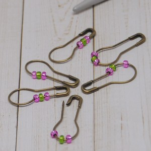 Pink and Green Stitch Markers