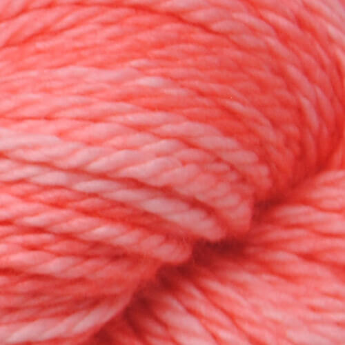 Coral hand-dyed bulky yarn