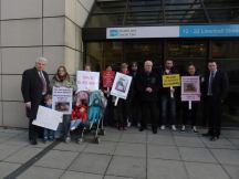 Support parents protesting threat to Childrens Cardiac Surgery in Belfast, at the Health and Social Care board offices