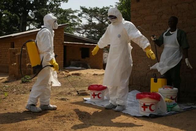 Ebola outbreak hazmat suit