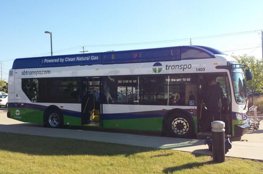 South Bend Transpo new compressed natural gas buses