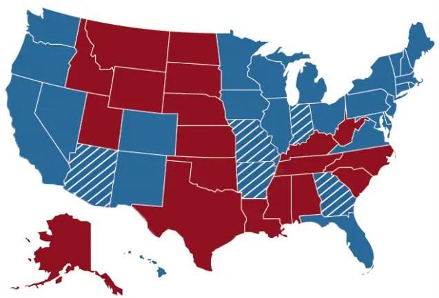 Clinton-electoral-map