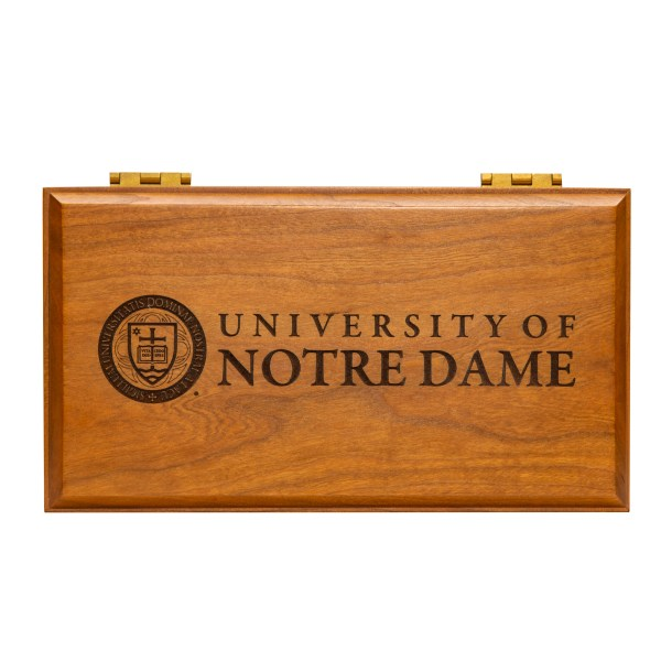 University of Notre Dame Hardwood Cherry Box